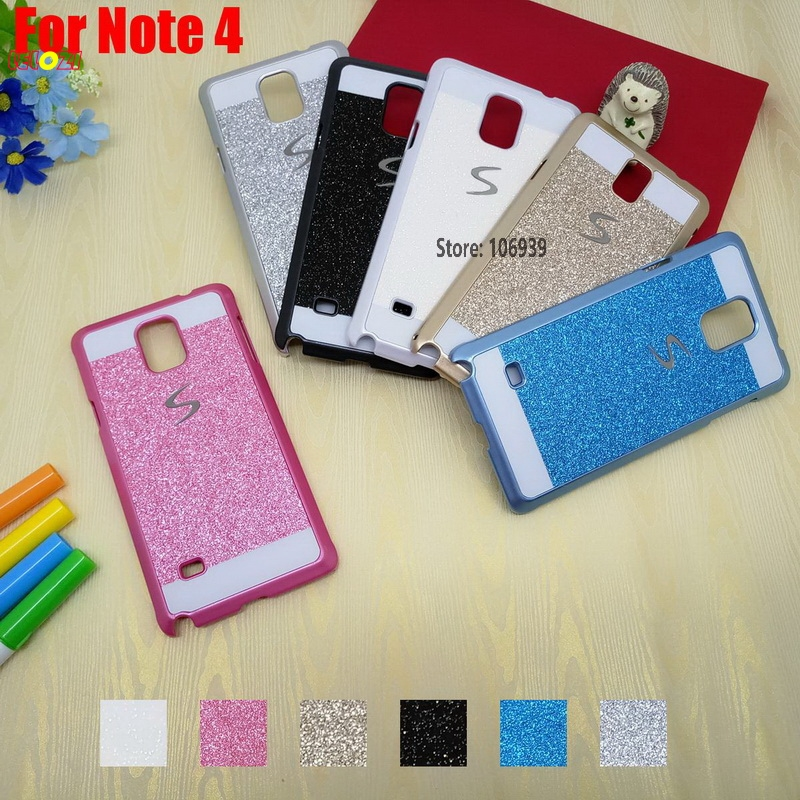 LELOZI Luxury New Fashion Bling Shinning Glitter Hard PC Capinha Etui Case Cover For Samsung Galaxy Note 4 N910 N910C Pink Blue