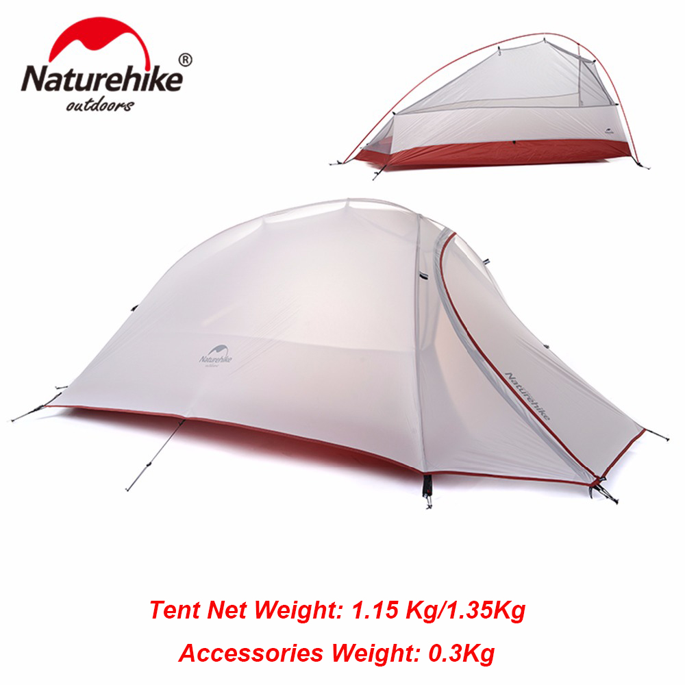 NatureHike 1 Person 4 Sezoni Ultralight Camping Tenda në natyrë Hiking Lightweight i papërshkueshëm nga uji Njeriu i vetëm Beqar çiklizmi çadra e udhëtimit