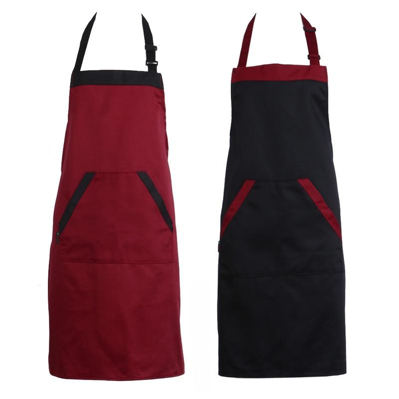 Unisex Halterneck Gotowanie Pieczenie Fartuchy Catering Dom Dom Kuchnia Fartuch Fartuchy z 2 kieszeniami Akcesoria kuchenne