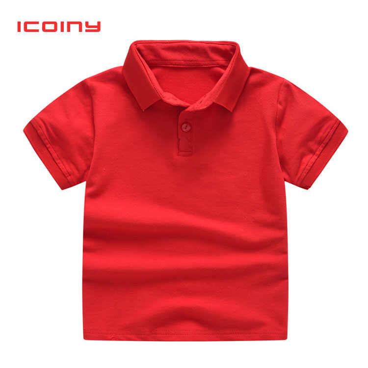 BibiCola chłopcy koszulki Polo lato 2019 oddychające koszulki Polo dzieci czarne białe koszulki bebe dzieci bawełna chłopiec odzież 2 3 4 5 6 7 8
