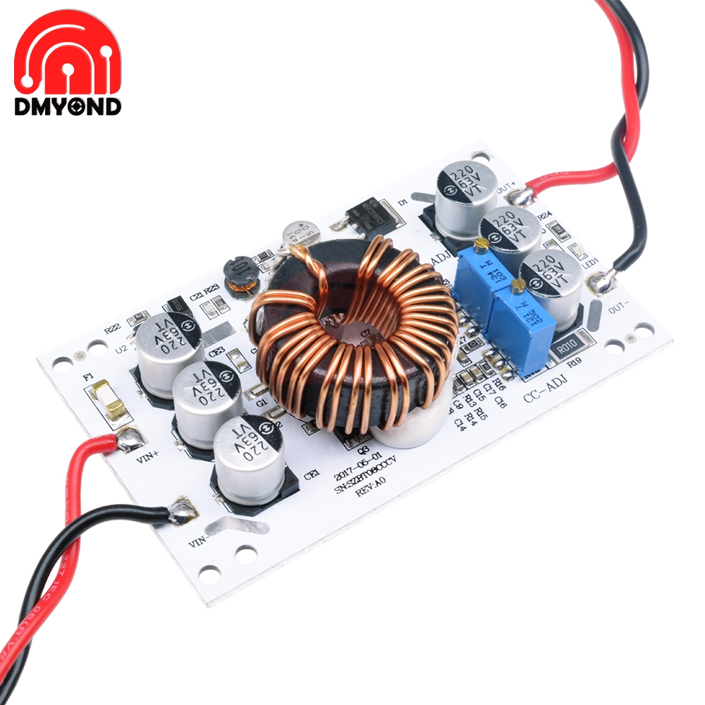 DC-DC 600W Aluminum Plate Boost Converter Adjustable <font><b>10A</b></font> Step Up Constant Current Power Supply Module Led Driver For Arduino image