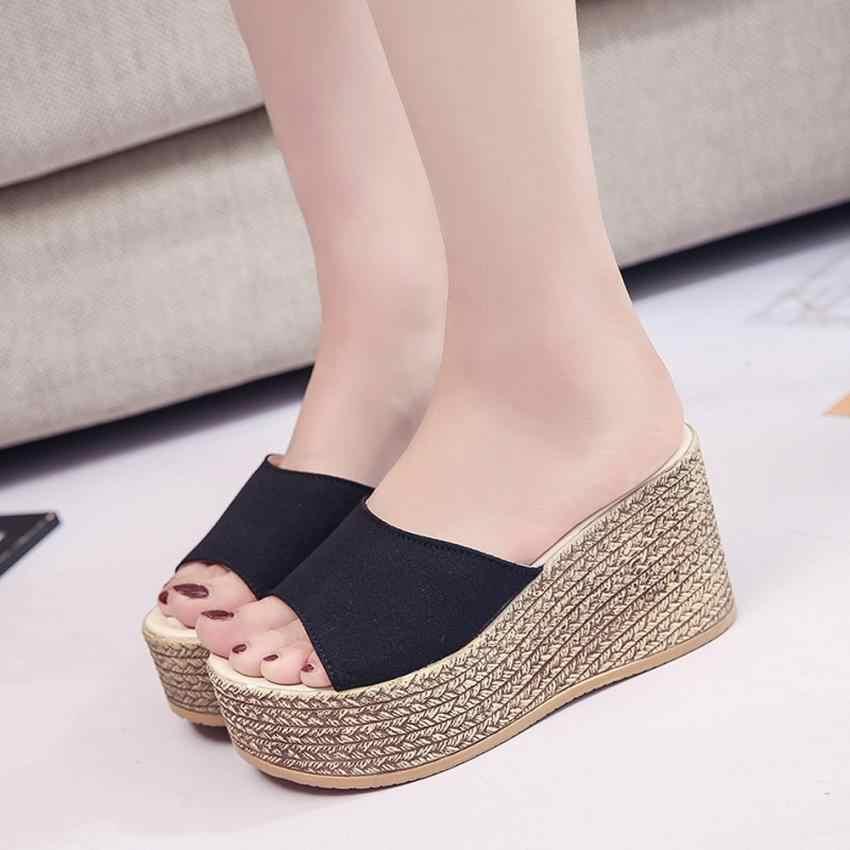 Giày Lật flops Thời Trang mùa hè Rắn Peep Toe Dày Dép Dưới Dép Nền Tảng giản dị giày phụ nữ Thả Vận Chuyển