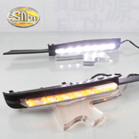 For Toyota Mark X 2004~2009 LED Daytime Running Light Fog Lamp Cover DRL With Dimming Functions Relay