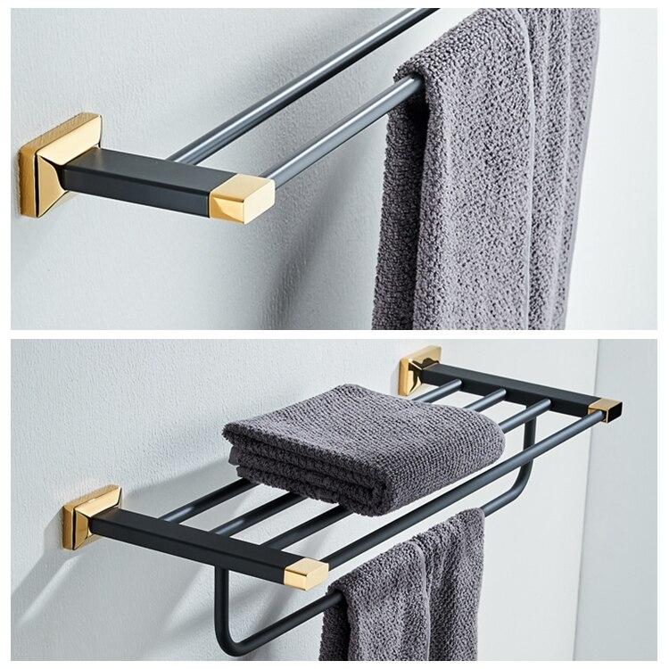 Nueva cobre bronce negro y oro Baño de alta gama Accesorios colgante  toallero Percheros baño toallero b51b43217499