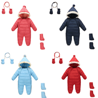 3PCS Winter Cotton Baby Rompers Christmas Baby Girl Clothes Baby Boy Clothes Newborn Baby Clothes Roupas Bebe Infant Jumpsuits
