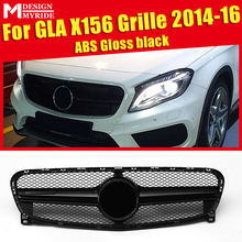 Fits For MercedesMB X156 GLA Sport grille grill ABS Black Without Sign GLA-Class GLA200 GLA220 GLA250 GLA45 look grills 2014-16