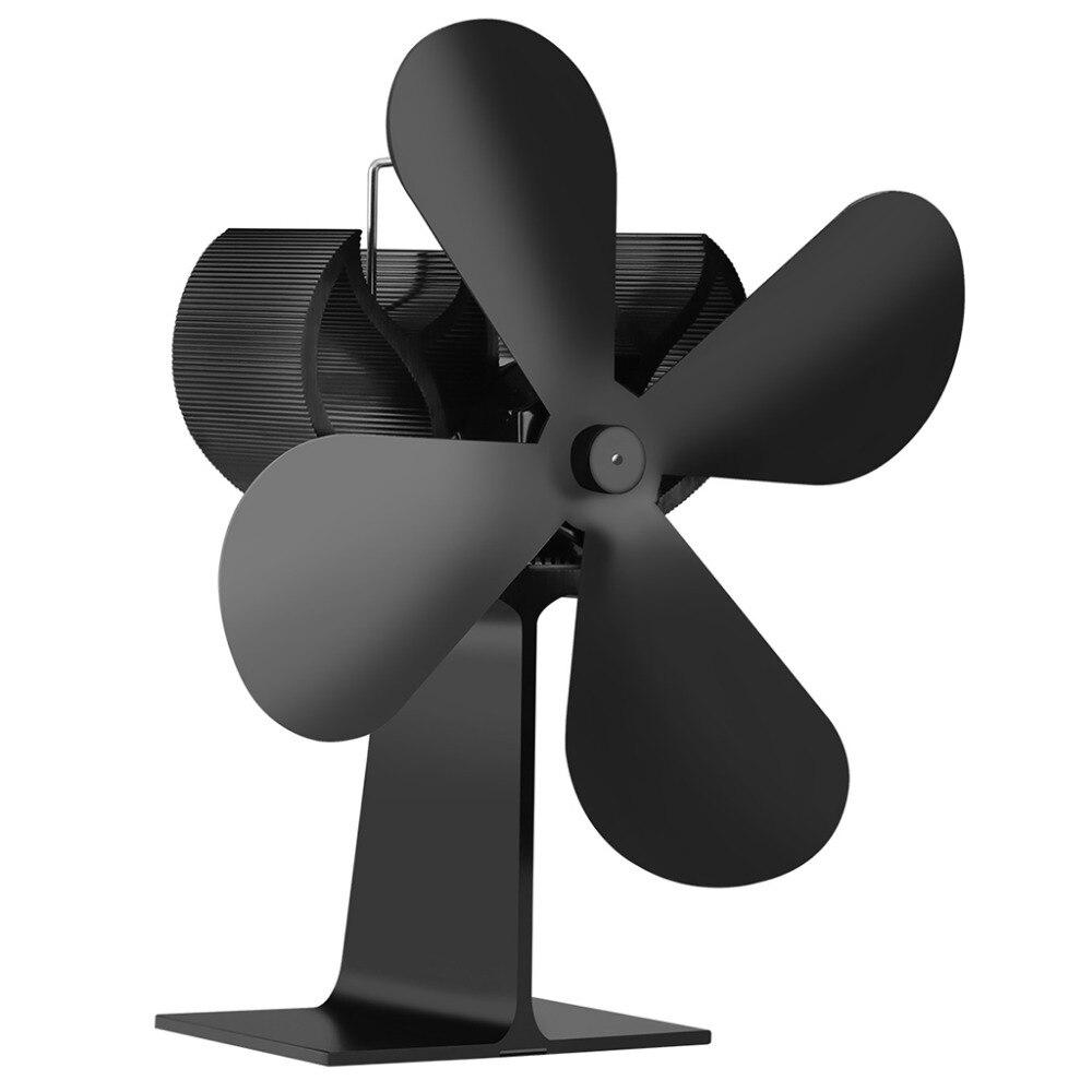Chauffage bois 4 lames poêle Eco ventilateur poêle cheminée feu alimenté par la chaleur circulation ventilateurs Ultra silencieux JAN07 livraison directe