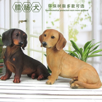Resin simulation dog ornaments animals Dachshunds living room TV cabinet crafts Wang Choi Feng Shui home accessories