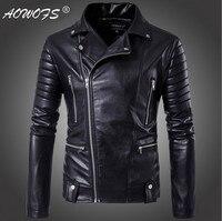 Большие размеры 5XL мужские кожаные куртки Европа и Америка наивысшего качества тонкий мотоцикл кожаные куртки популярно среди молодежи кур...