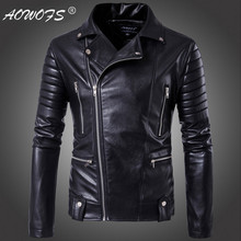 Big Size 5XL Men leather jackets Europe and America Top quality Slim Motorcycle