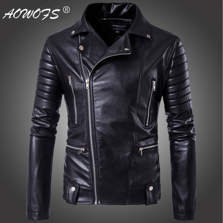 Big Size 5XL Men leather jackets Europe and America Top quality Slim Motorcycle Leather Jackets Youth popular Bomber Jacket