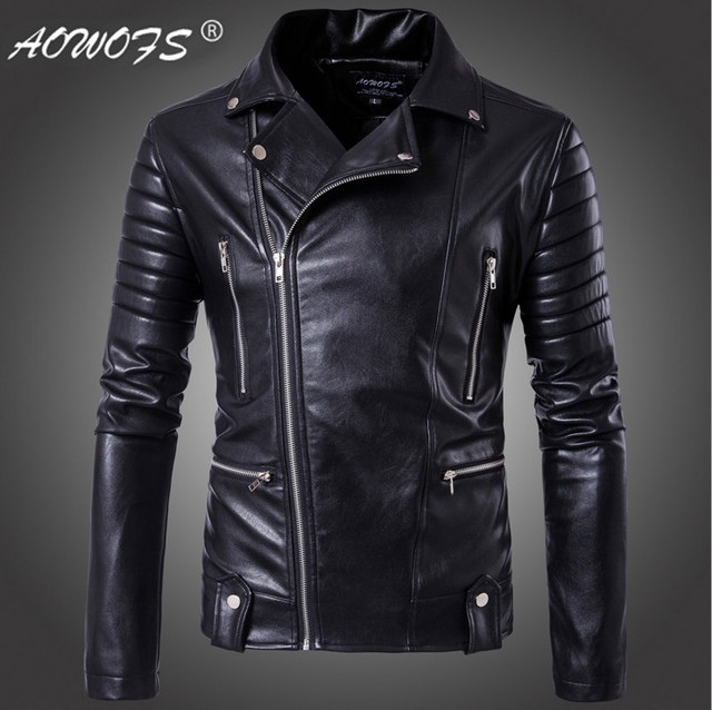 a9a0a09ed5f Big Size 5XL Men leather jackets Europe and America Top quality Slim  Motorcycle Leather Jackets Youth popular Bomber Jacket