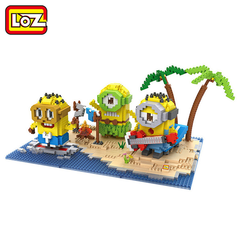 LOZ Diamond Block Buildings Set Tropical Island Park Paradise Mini Plastic Building Blocks Education Children Gift