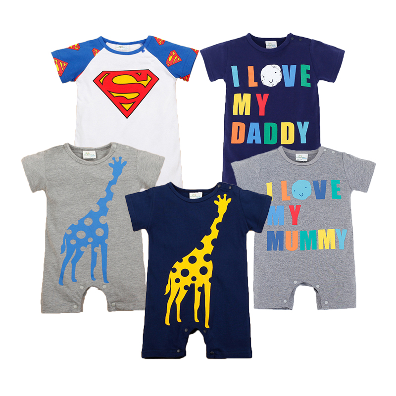 Baby Rompers Summer Baby Boy Clothes 2017 Newborn Baby Clothes Roupas Bebe Infant Jumpsuits Kids Clothes Baby Boy Clothing Sets 2pcs baby boy clothing set autumn baby boy clothes cotton children clothing roupas bebe infant baby costume kids t shirt pants