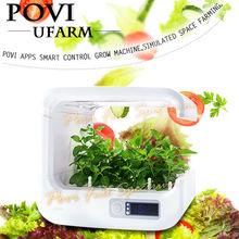 POVI plant grow box hydroponics soil-free grow bean sprout machine APPs operation with LED grow light for indoor garden plants