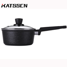 18cm Cast Iron Milk Soup Pot with Glass lid Nonstick Multi-function Omelette/Porridge Pot Electric Fire Universal 252 classic country french soup pot with lid