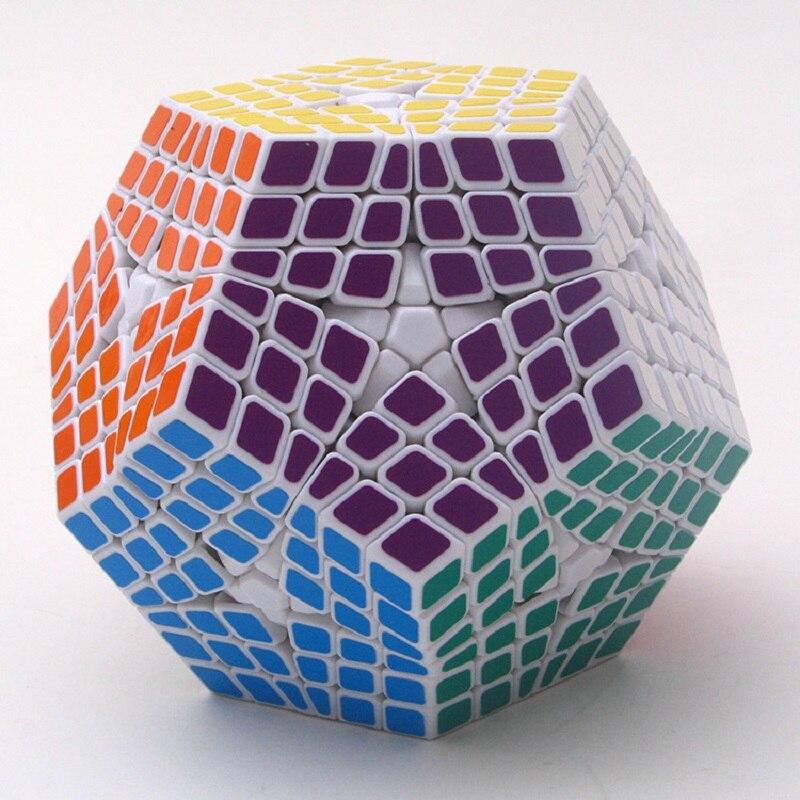 2017 nouveau Shengshou 6x6x6 Megaminx noir/blanc torsion Puzzle PVC & mat autocollants Cubo professionnel Puzzle Cube vitesse classique jouets