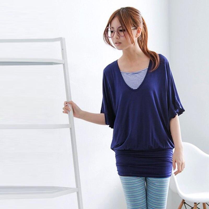 Emotion Moms ткань мягкая удобная одежда для беременных топы Одежда для кормящих мам Одежда для беременных женщин - Цвет: Синий