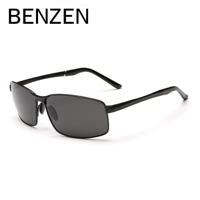 BENZEN Polarizada Óculos De Sol Dos Homens Designer de Marca Do Vintage Masculino  Óculos de Sol UV 400 Óculos de Condução Para Os Homens Shades Com Caso ... 03dd2f9d8f