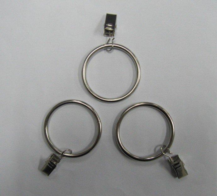 Лидер продаж! Кольца стали клип занавес for7/8,1, 1-1/8, 1-1/4, 1-3/8 дюйма диаметром. стержни на покрытие никель 50 шт./лот заводская цена