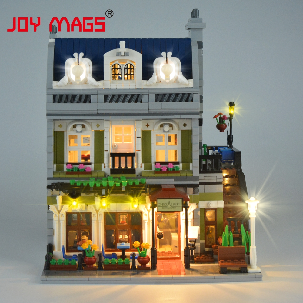 JOY MAGS Only Led Light Kit For Creator 10243 Parisian Restaurant Lighting Set Compatible With Lego (NOT Include The Model)
