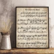 póster piano RETRO VINTAGE