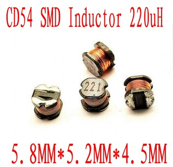 1000PCS/lot SMD power inductors CD54 220uh 221 Chip inductor 5.8*5*4.5mm