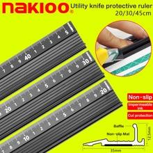 Avancerad aluminiumlegering linjal, multifunktionell student skärning skydd konst anti slip ritning verktyg