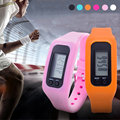 1pc Digital Wristwatches LED Multifunction Pedometer Step Counter Walking Calorie Distance Calculation sports watches clocks H4