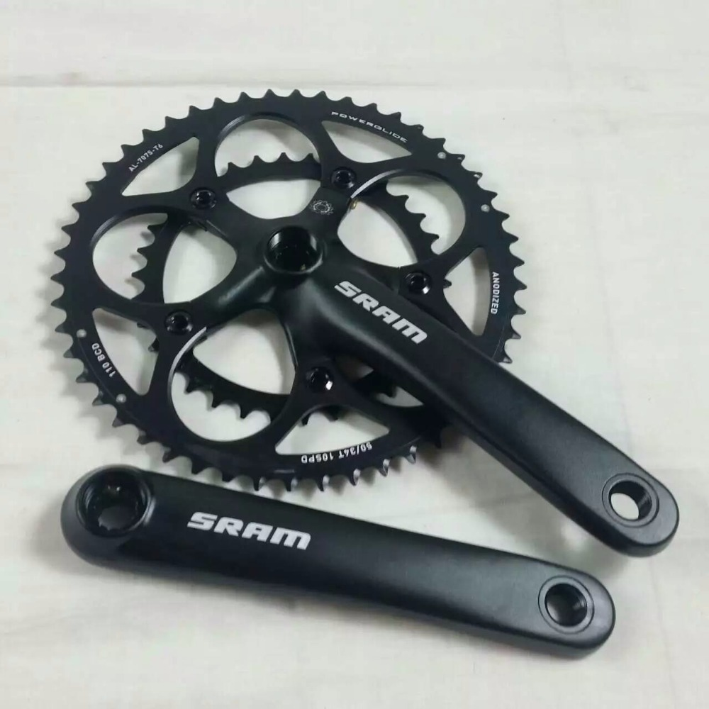 ФОТО cool price Original SRSAM 7075-t6 cnc ultralight 34-50T 12 Spline road bicycle crank chainwheel set