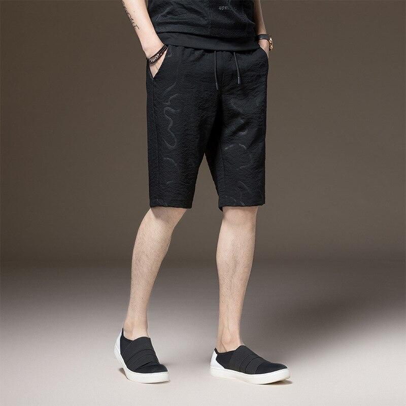 Hommes D'été Bord Court Occasionnel Mens Pur Couleur Sportwear Short en Lin Mâle Beachwear Mince Pantalon Court