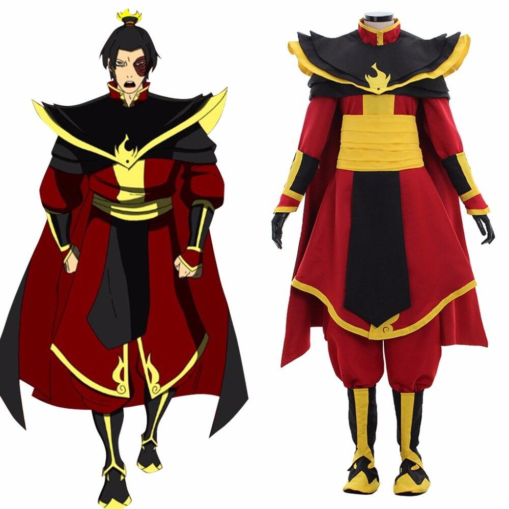 Cosplaydiy adulte Anime Avatar le dernier Airbender Cosplay Costume Avatar le dernier Airbender Prince Zuko Azula Costume L320