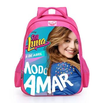 2018 Children Schoolbag Custom Made TV Show Soy Luna Backpack for Girl Teenager Girl Backpack Women Travel Bag Mochila Infantil