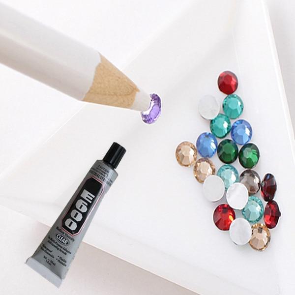 2 шт. Легко Поднимая Воск Ручка для 3D Горный Хрусталь Выбор Профессиональный Nail Art Инструмент