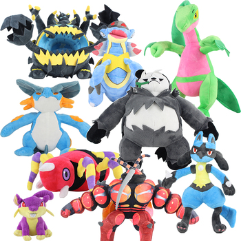 Hot Game Character Plush Toys Ariados Buzzwole Armaldo Grovyle Lucario Swampert Pangoro Soft Stuffed Animal Doll For Kids Gift image