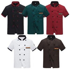 Image 2 - גברים ארוך שרוולים שף מעיל מלון שירות עבודה ללבוש עבודת מטבח מסעדת שף נוסע אחיד בישול בגדי נשים 89
