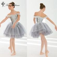 소녀, 회색, 자고, 아름다움, 서정시, 댄스, 투투, 드레스, 의상, 발레리나, 성능, 투투 드레스 BL0131