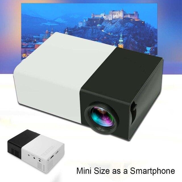 Мини 1080 P Full HD LED LCD Проектор Для Домашнего Кинотеатра AV HDMI Мультимедиа Черный США APE