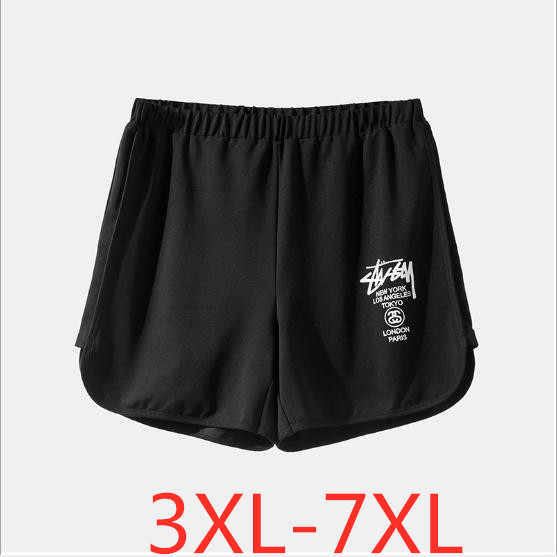 2019 summer plus size shorts for women casual loose high elastic waist large size womens sports shorts black 3XL 4XL 5XL 6XL 7XL