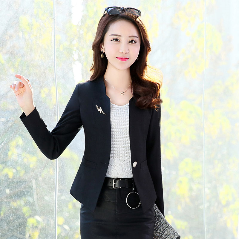 2017 spring and autumn new fashion casual office workers a small suit a small suit suit short jacket suit