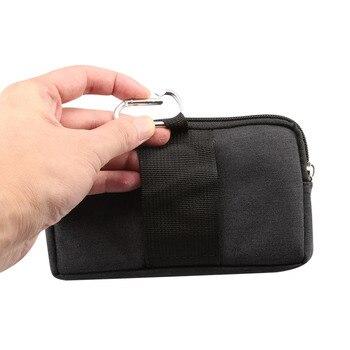 Phone Pouch For xiaomi redmi note 5 pro mi max 3 mi8 a2 PocoPhone F1 redmi 6X 6 5 4x Belt Clip Cowboy Cloth Casual Waist Bags 5