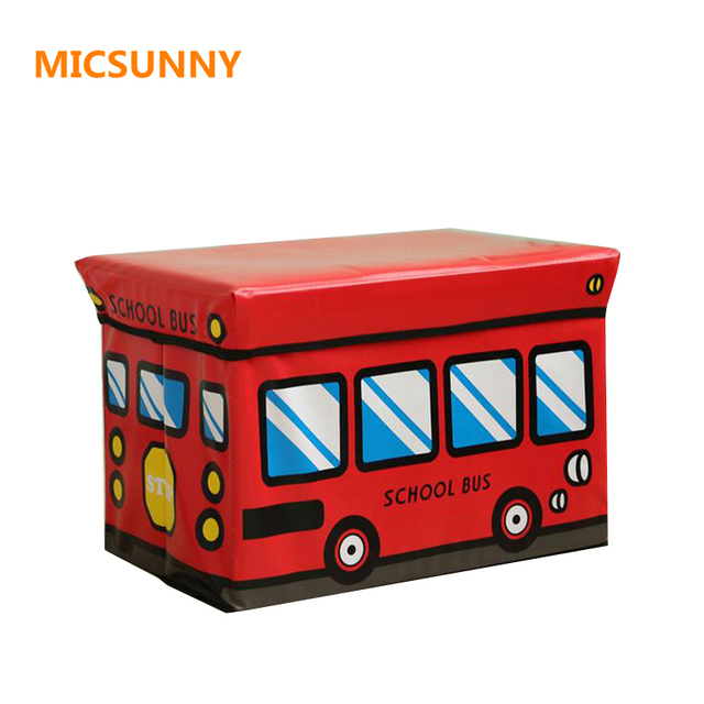 Superieur MICMOON 50*32*33cm Multifunction Children Folding Kids Storage Box Seat PU  Leather Organizer