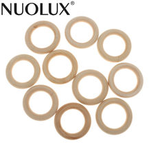 Pack Of 10pcs 5.5cm Natural Wood Loop Ring Wood Material For DIY Jewelry Findings Wedding Party Decoration(China)