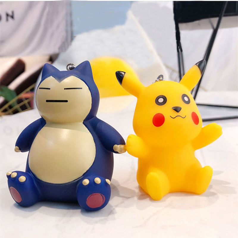 New Design 3D Cartoon Cute Doll Keychain Japan Anime Keyring Pocket Monster Llaveiro Pokemon Chavero Pikachu Porte clef Pandent