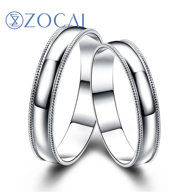His And Her Wedding Bands.Us 449 99 Zocai Platinum Pt950 Wedding Bands His Her Wedding Bands Ring Q00498ab In Rings From Jewelry Accessories On Aliexpress Com Alibaba