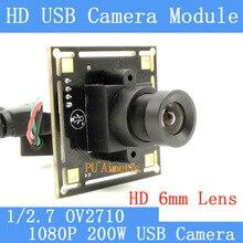 Industry Surveillance Camera 1080P Full HD MJPEG 30fps High Speed OV2710 Mini CCTV Linux UVC Webcam USB Camera Module