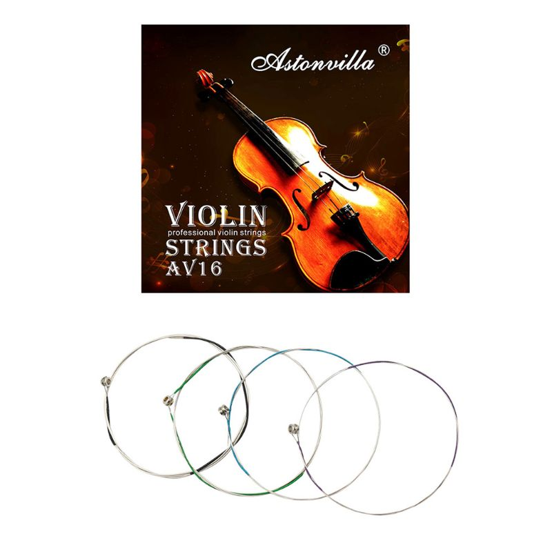AV16 Professional Violin Strings (E-A-D-G) Cupronickel String For 4/4 3/4 1/2 1/4 Violin