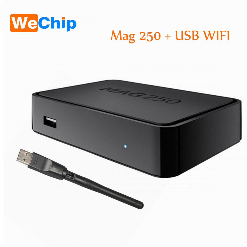 WeChip Iptv Set Top Box Mag250 Linux System Iptv Mag250 STi7105 Mag250 Linux TV Box+Usb Wifi 256M Same With Mag254 Free shipping illusion money box dream box money from empty box wonder box magic tricks props comedy mentalism gimmick