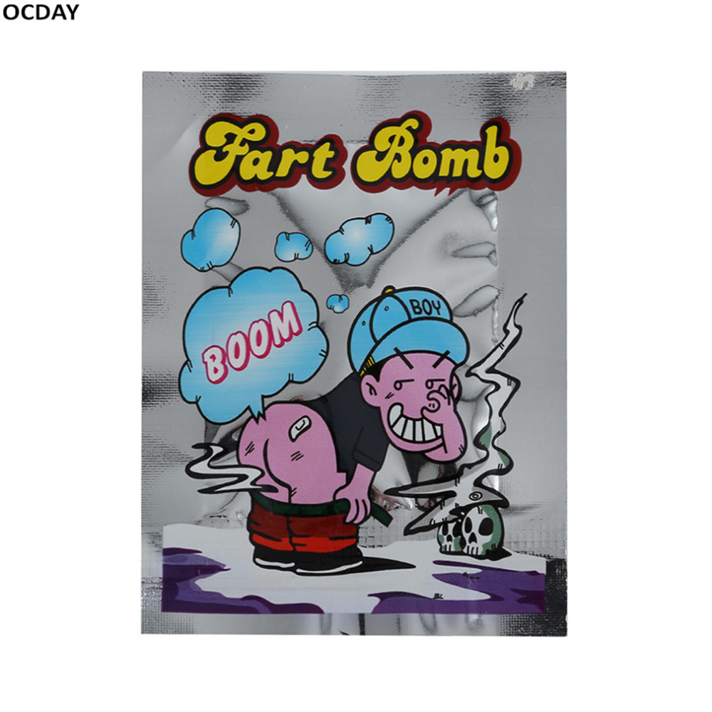 HOT!OCDAY 10 Pieces Smelly Fart Bomb Bag Fool Toy Novelty Prank Someone Stink Exploding Mini Practical Joke New Sale