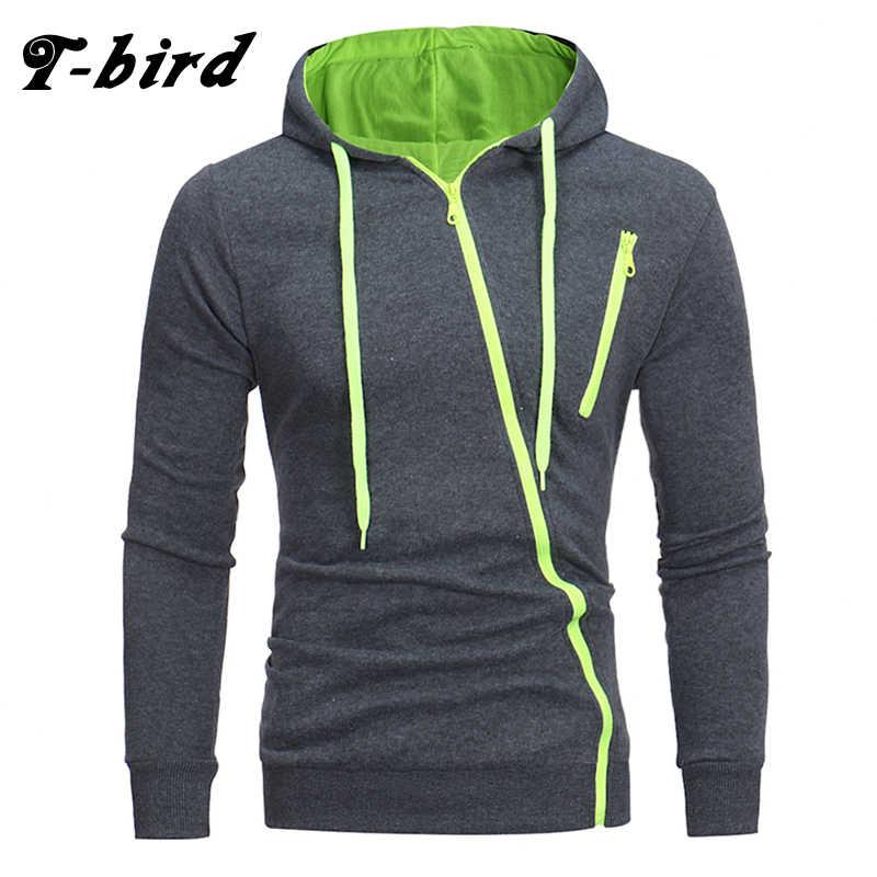 3056d1c4450c T-Bird фирменные толстовки Для мужчин 2018 мужской длинный рукав толстовка  Особенности свитшоты на молнии